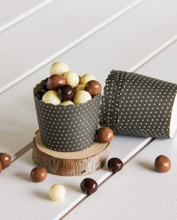 capsula cupcake negra decorada