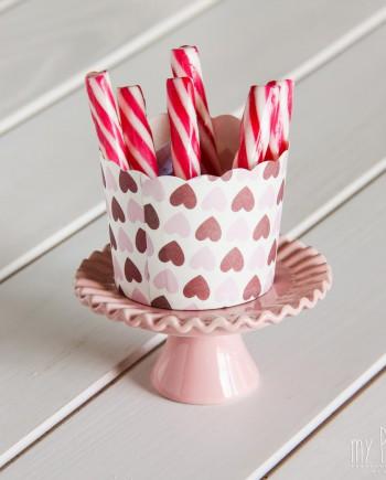 capsulas cupcakes corazones