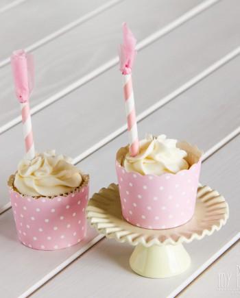 Cápsulas cupcakes topos rosa - 6 uds