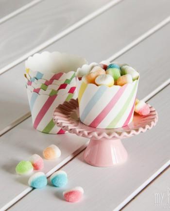Cápsulas cupcakes rayas multicolor