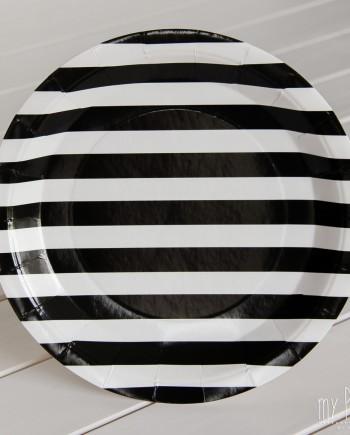 Platos-Rayas-blanco y negro-100301