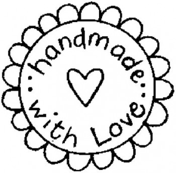 "Sello ""Handmade with Love"""