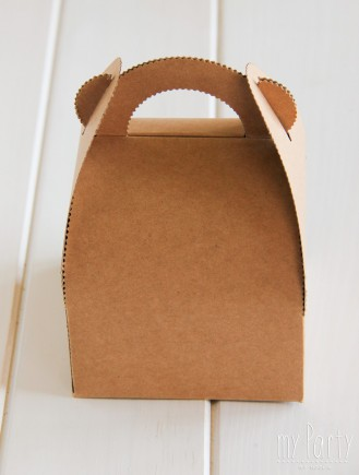 Caja de picnic pequeña de Kraft