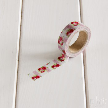 Washi Tape Rosas Vintage