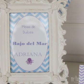 Cartel de bienvenida Fiesta Sirenita