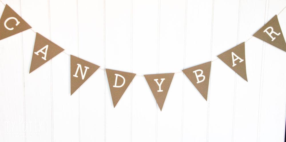 Banderin Candy Ba