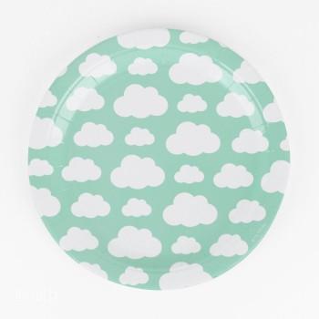 platos decoracion nubes