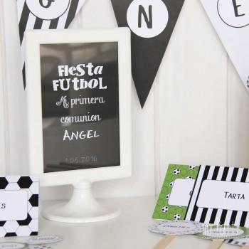 Cartel bienvenida Fiesta de Futbol