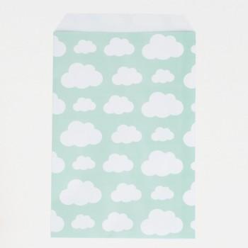 bolsas de papel de nubes