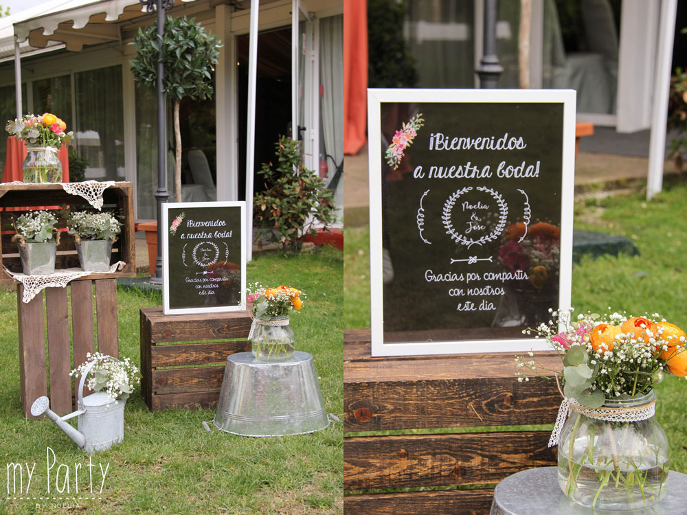 Recepcion en boda vintage Madrid