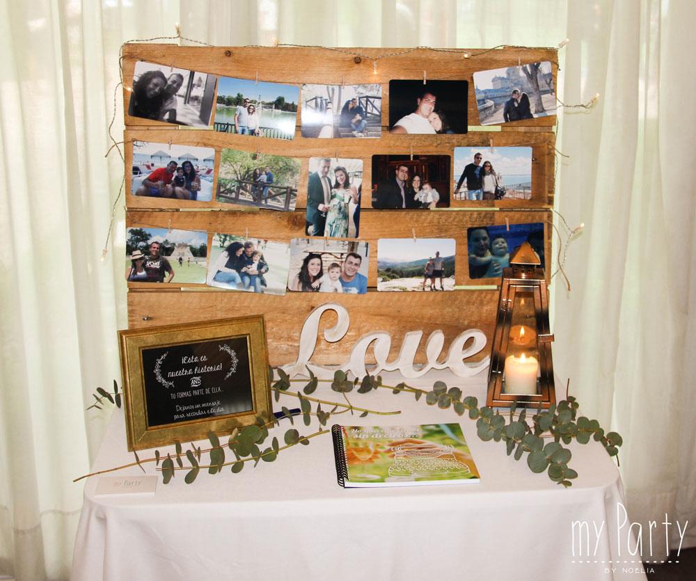 Detalle de libro de firmas boda