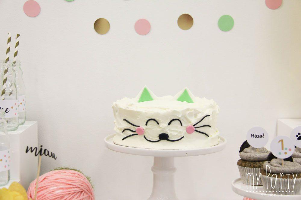 Primer cumple fiesta gatito