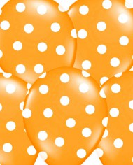 globo naranja con topos
