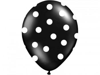 globo negro con topos