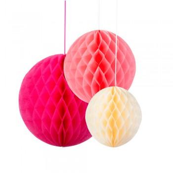 nidos de abeja tonos rosa