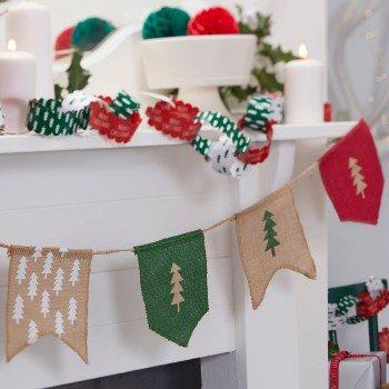 Banderín-Navidad-Arpillera