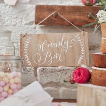 Cartel-madera-Candy-Bar