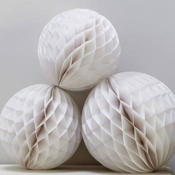 set-de-nidos-de-abeja-blanco