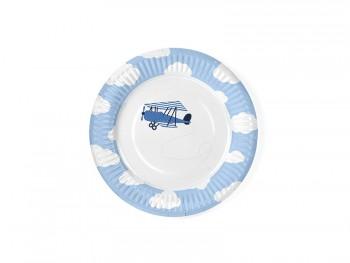 plato de papel fiesta avion