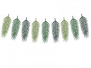 guirnalda de hojas tropicales