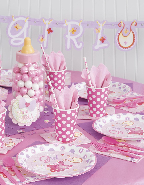 Platos De Papel Baby Shower Rosa My Party By Noelia