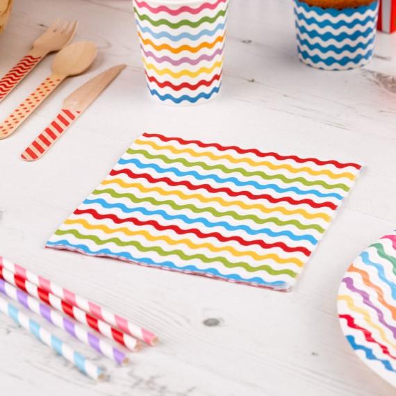 servilletas de papel multicolor