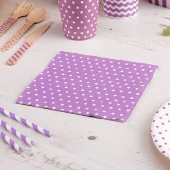 servilletas de papel morado