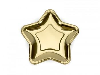 plato de papel dorado