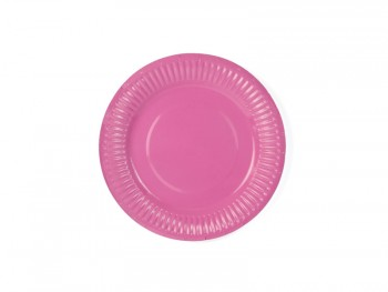 platos de papel fucsia
