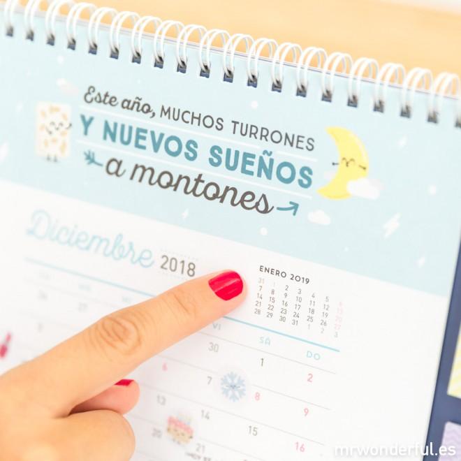 Calendario Mr Wonderful 2019.Calendario Mesa Mr Wonderful
