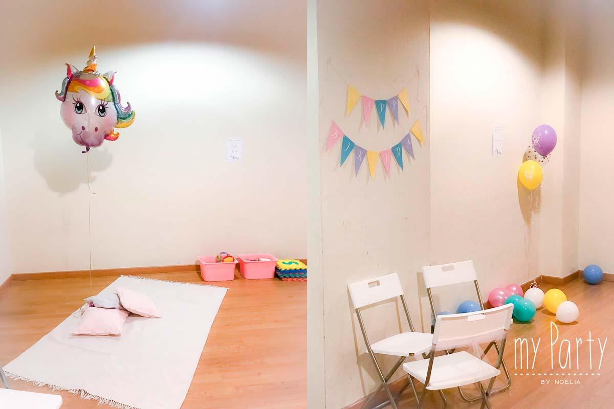 Zona De Juegos Para Ninos Fiestas De Unicornio My Party By Noelia